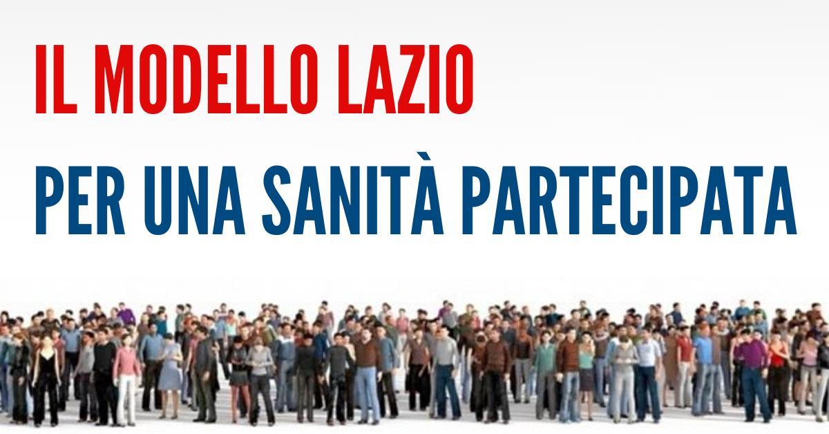 Il modello Lazio, per una sanità partecipata