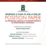 WEBINAR: La persona con SLA in dipartimento emergenza-urgenza